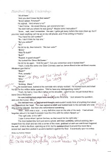 example of red pen feedback